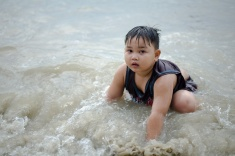 Mandi; Sea; Pantai Klanang; Kid; Child