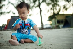 Baby; Love; Child; Pantai Kelanang; Play sand