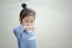 Portraiture Child at Pantai Kelanang
