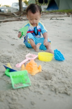 Baby; Child; Kid; Play Sand; Pantai Kelanang